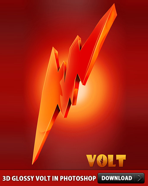 Download Glossy Volt Icon in Photoshop
