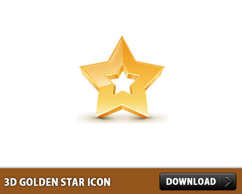 Download 3D Golden Star Icon
