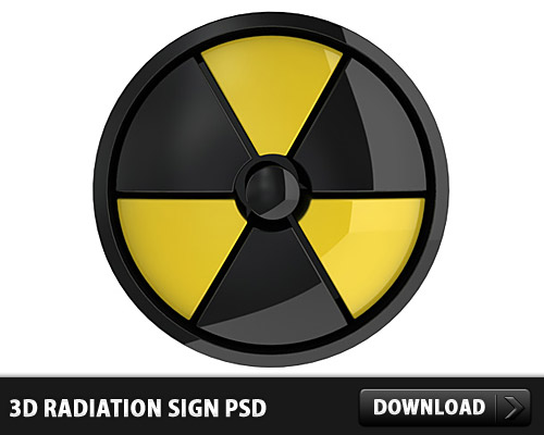 Download 3D Radiation Sign PSD