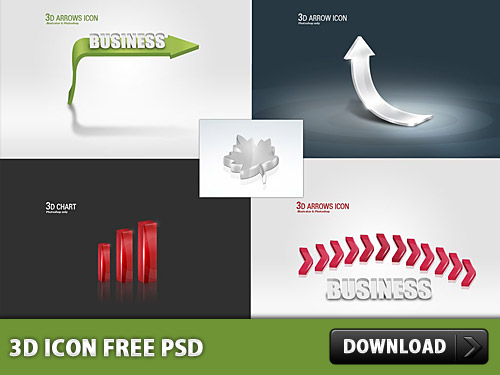 Download 3d icon Free PSD