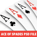 Ace Of Spades PSD file
