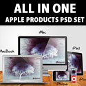 All in One Apple Products PSD Set