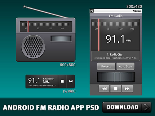 Download Android FM Radio Application PSD