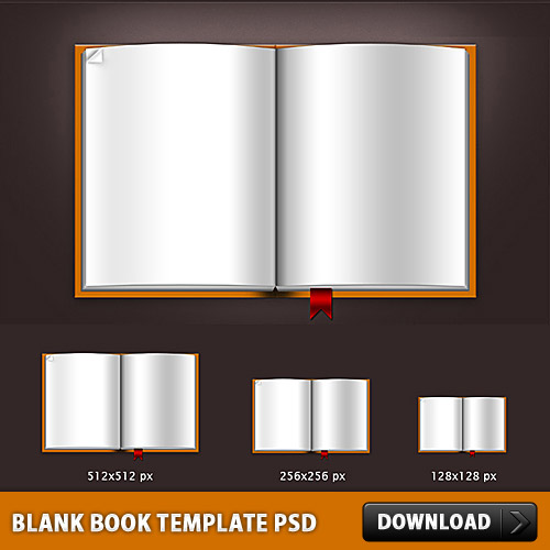 Download Blank Book Template PSD File