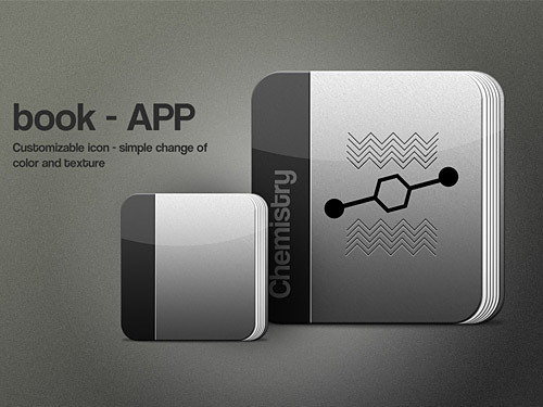 Download Book App Icon PSD
