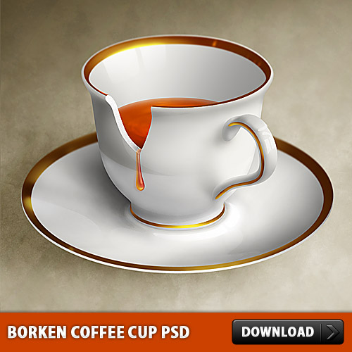 Download Borken Coffee Cup PSD