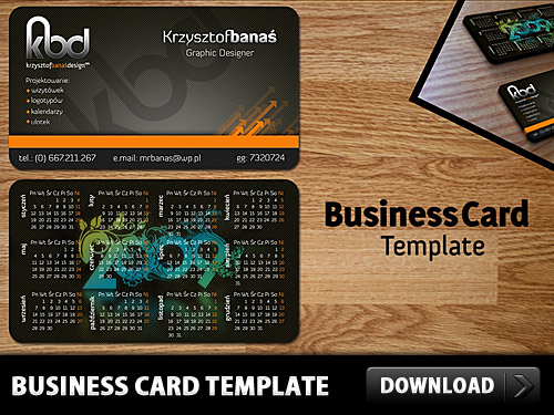 Download Business Card Free Template PSD
