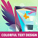 Colorful Text Design PSD