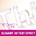 Elegant 3D Text Effect in Photoshop