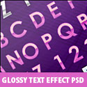 Glossy Text Effect Free PSD file
