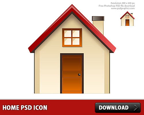 Download Home PSD icon