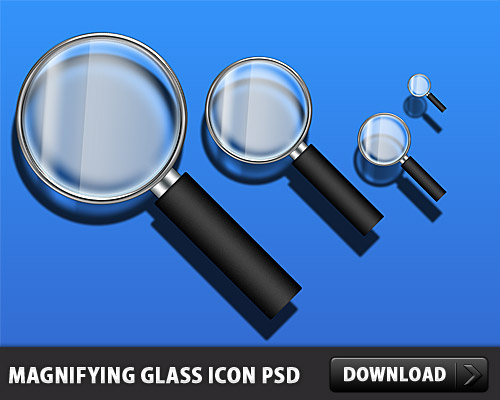 Download Magnifying Glass Icon PSD