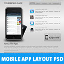 Mobile App Layout Free PSD