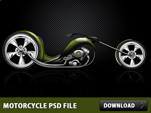 Download Motorcycle Photoshop PSD File