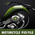 Motorcycle Free Photoshop PSD File
