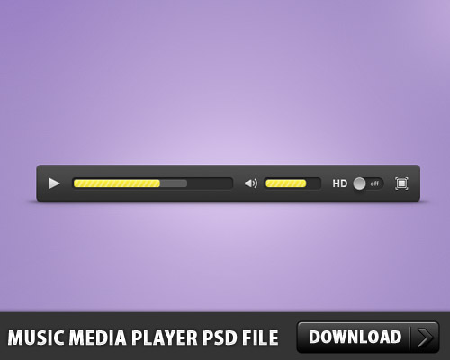 Download Music Media Player PSD File