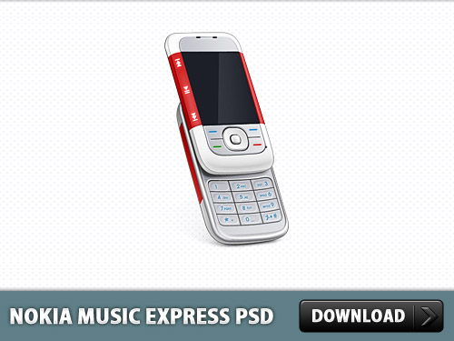 Download Nokia Music Express Phone PSD