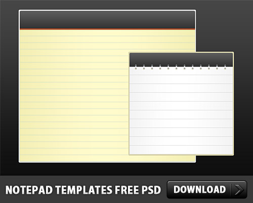 Download Notepad Templates Free PSD