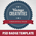 Free PSD Badge Template Set