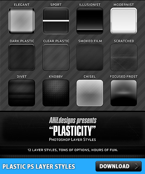 Download Plastic PS Layer Styles