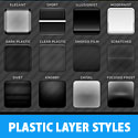 Plastic PS Layer Styles