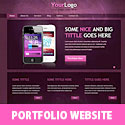 Portfolio Website Template PSD