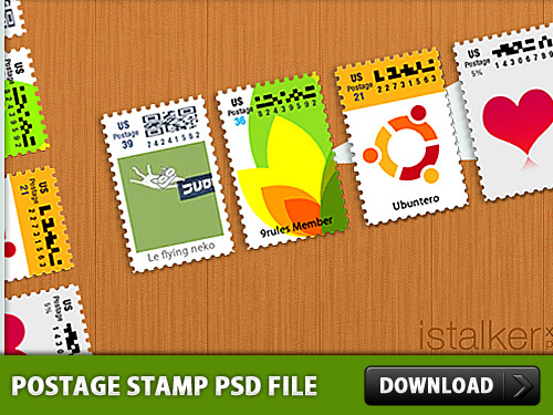 Download Postage Stamp PSD file