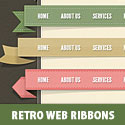 Retro Web Ribbons PSD