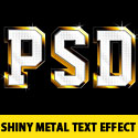 Shiny Metal Text Effect PSD