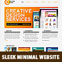 Sleek Minimal Website PSD