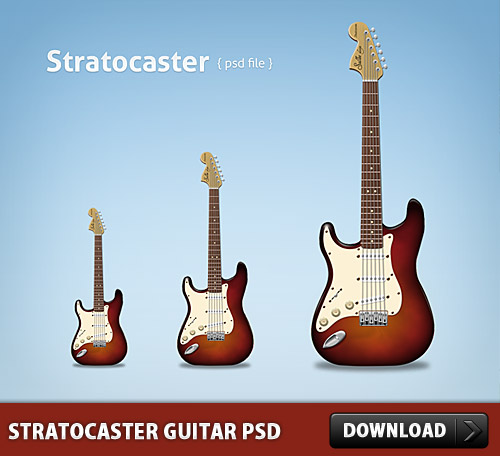Download Free Stratocaster Guitar PSD