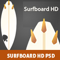 Surfboard HD PSD
