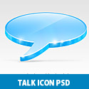 3D Talk icon Free PSD