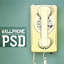 Wall Telephone Free PSD file