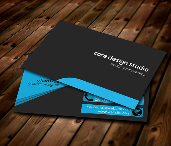Black-stylish-Business-card