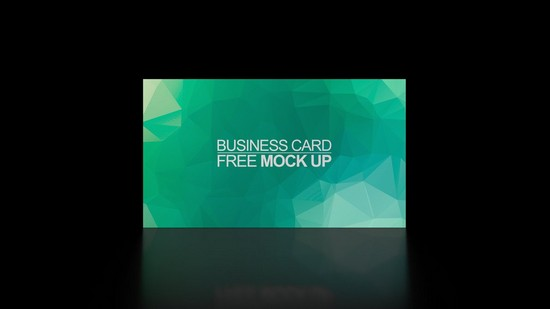 Business card free mock up PSD Black