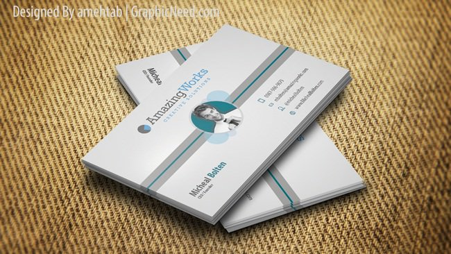 Creative-One-sided-Free-Business-Card-PSD
