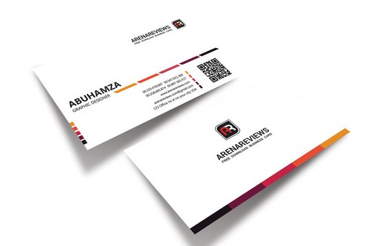 Creative White Business Card Template