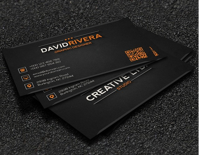 Free – Business Card Template-244541