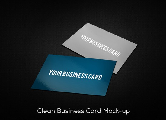 Freebie Clean Business Card Mockup (PSD)