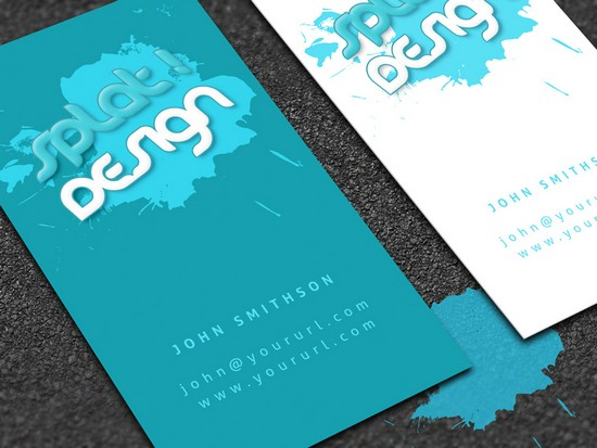 Splat Business Card with PSD