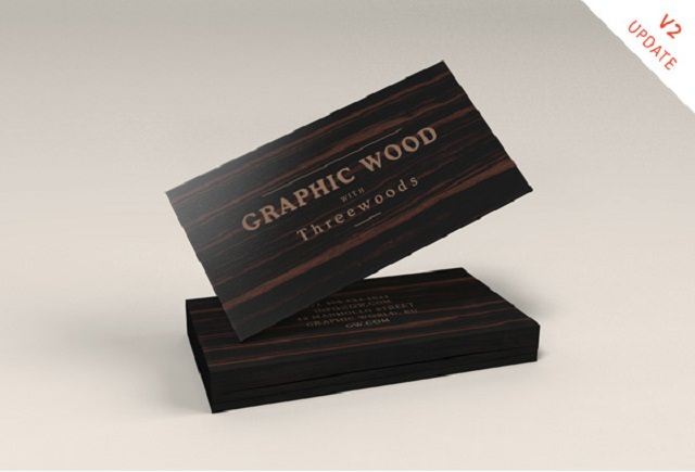 Wooden Business Cards MockUp-015