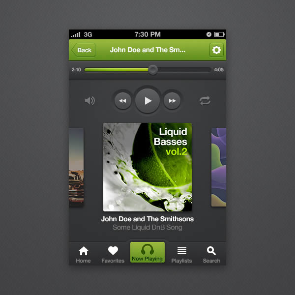 iPhone Music Player App Interface PSD Web Resources, Web Elements, Web Design Elements, Web, User Interface, ui set, ui kit, UI elements, UI, Resources, Psd Templates, PSD Sources, psd resources, PSD images, psd free download, psd free, PSD file, psd download, PSD, Player, Photoshop, Music Player, Music, Layered PSDs, Layered PSD, iPhone Application, iPhone App, Iphone, Interface, GUI Set, GUI kit, GUI, Graphics, Graphical User Interface, Freebies, Free Resources, Free PSD, free download, Free, Elements, download psd, download free psd, Download, Design Resources, Design Elements, Application, Apple, App, Adobe Photoshop,