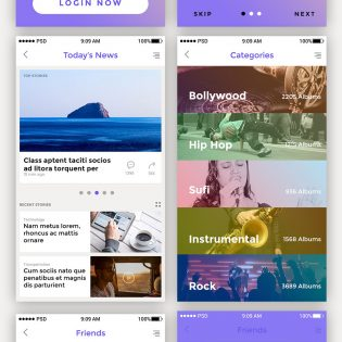 10 Premium App Screen UI Kit Free PSD