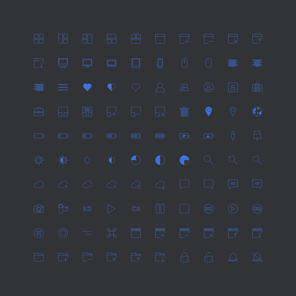 100 Free Mini Pixel Icons PSD Set