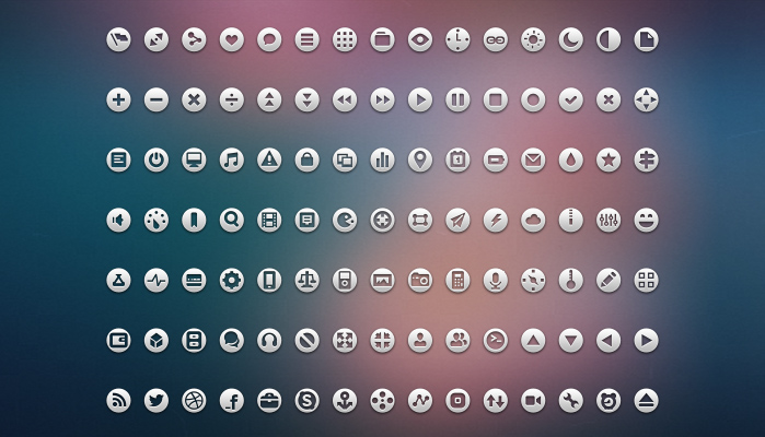 105 Perfect Round Loop Icons Pack PSD