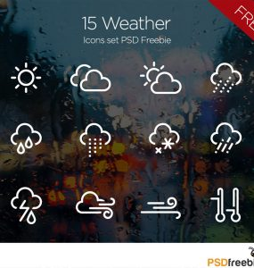 15 Minimal Weather Icons set PSD Freebie windy, wind, Web Resources, Web Elements, weather, Vector, unique, thunderstorm, thunder, thermometer, Symbol, sunshine, sunny, Stylish, storm, solar, snowflake, Snow, Sky, signs, set, season, Resources, rainy, Rain, Quality, psdfreebies, Psd Templates, PSD Sources, psd resources, PSD images, PSD Icons, psd free download, psd free, PSD file, psd download, PSD, Photoshop, pack, Overcast, original, new, Nature, moon, Modern, Minimal, lightning, Layered PSDs, Layered PSD, Icons Set, Icons, Icon Set, Icon PSD, Icon, hazy, Graphics, Fresh, Freebies, Freebie, Free Resources, Free PSD, Free Icons, Free Icon, free download, Free, forecast, fog, flake, Exclusive, Elements, drops, download psd, download free psd, Download, detailed, Design, day, Creative, contour, cold, cloudy, Cloud, climate, clear, Clean, Adobe Photoshop,