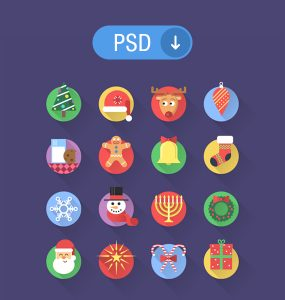 16 Flat Christmas PSD Icons Set X-MAS Web Resources Web Elements Tree Resources Resource PSD Icons PSD New Year Icons Set Icons Icon PSD Icon Holiday Gift Freebie Free Icons Free Icon Free Flat festival Elements Colorful Circle Christmas