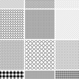 20 Seamless Pixel Photoshop Patterns Pack