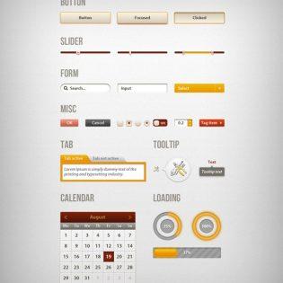 Creative Web UI Kit PSD